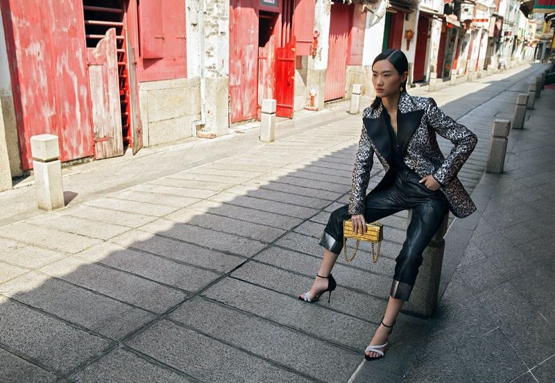 Yuemeng Ma Poses in Chic Outfits for STARLUX Magazine