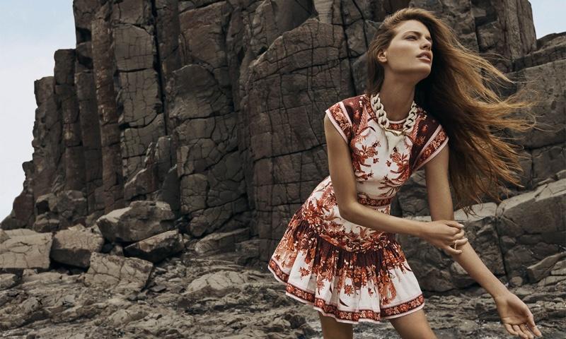 Model Faretta appears in Zimmermann spring 2020 campaign