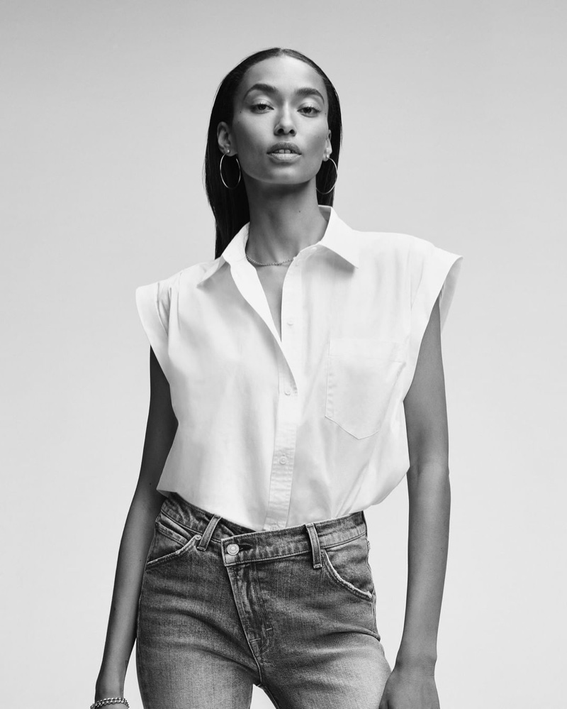 Anais Mali for 7 For All Mankind spring-summer 2020 campaign