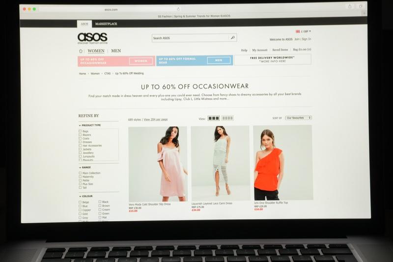 ASOS Website Shopping Women's Clothes