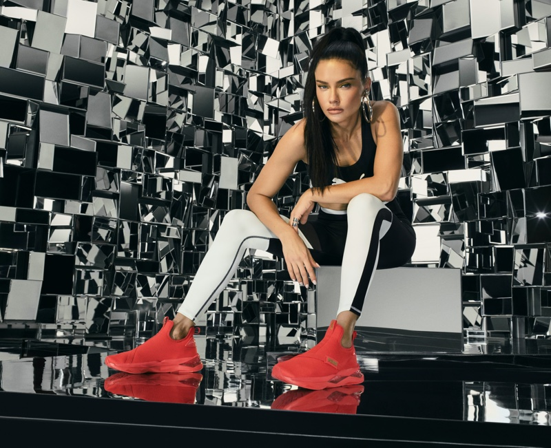 Adriana Lima stars in PUMA LQD CELL Shatter Mid sneaker campaign