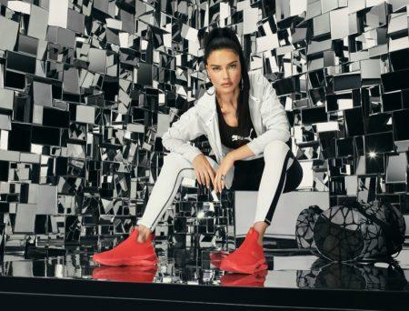 Ambassador Adriana Lima fronts PUMA LQD CELL Shatter Mid sneaker campaign