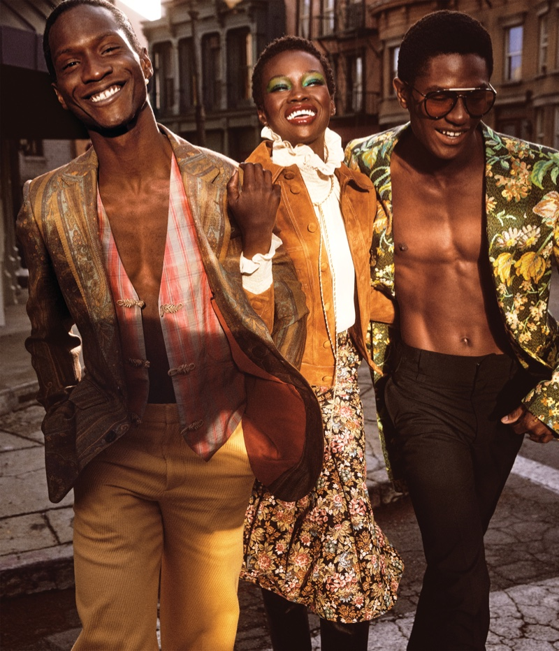 Adut, Mayowa, Fatou Sport Vibrant Styles for WSJ. Magazine
