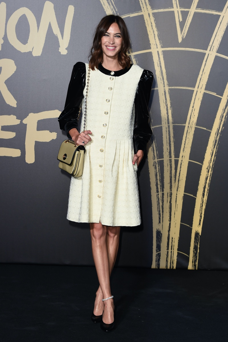 Alexa Chung at the Fashion for Relief Show 2019
