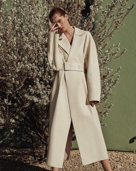 Alexina Graham Wears Sleek Outerwear for ELLE Germany