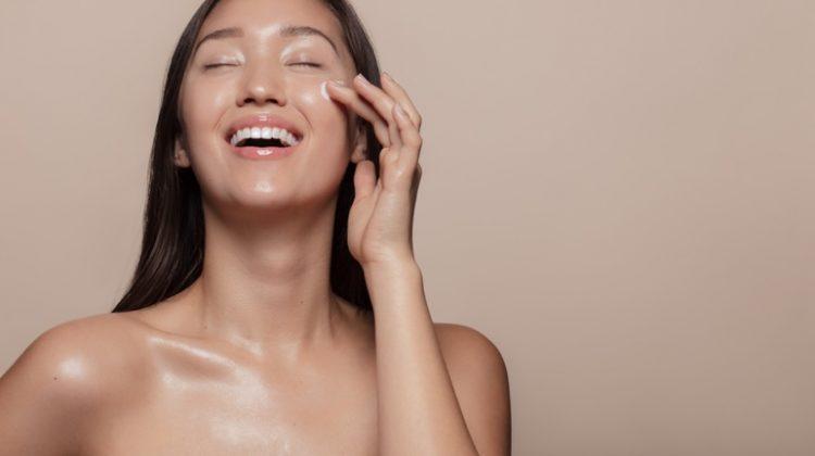 Asian Model Smiling Beauty Skincare