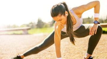 Attractive Woman Stretching Workout Clothes