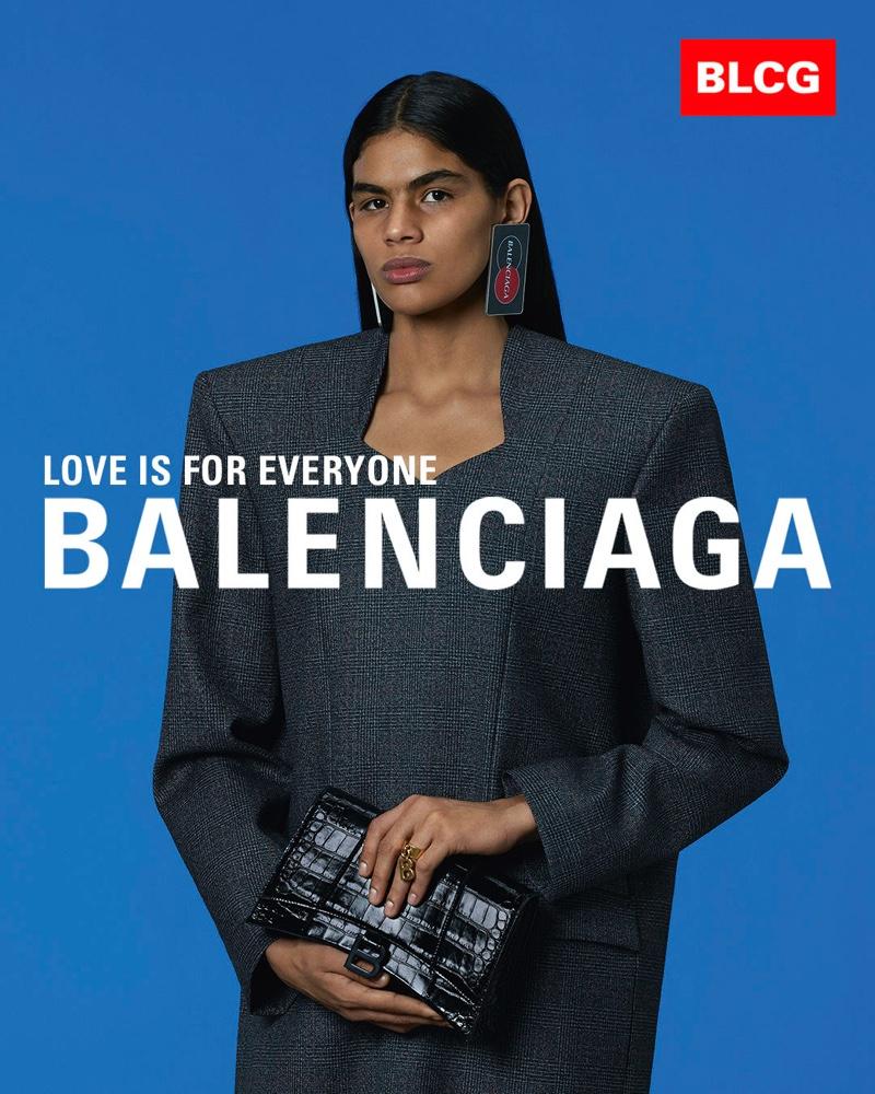 Thalita Farias appears in Balenciaga spring-summer 2020 campaign