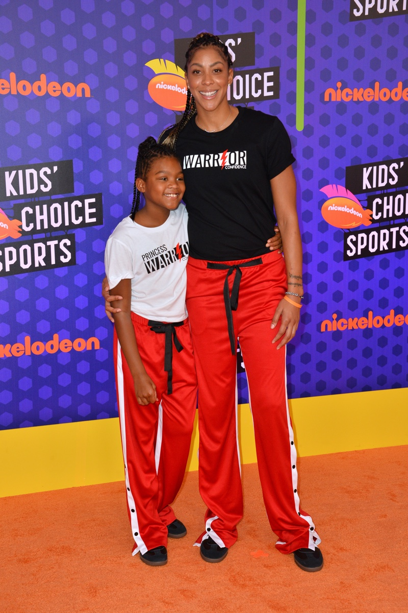 Candace Parker & Lailaa Nicole Williams at the Nickelodeon Kids' Choice Sports Awards 2018