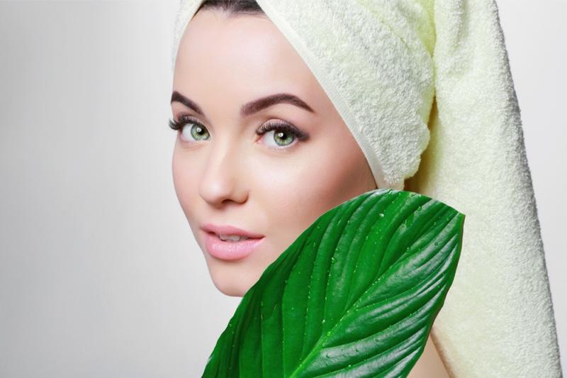 Beauty Woman Towel Leaf
