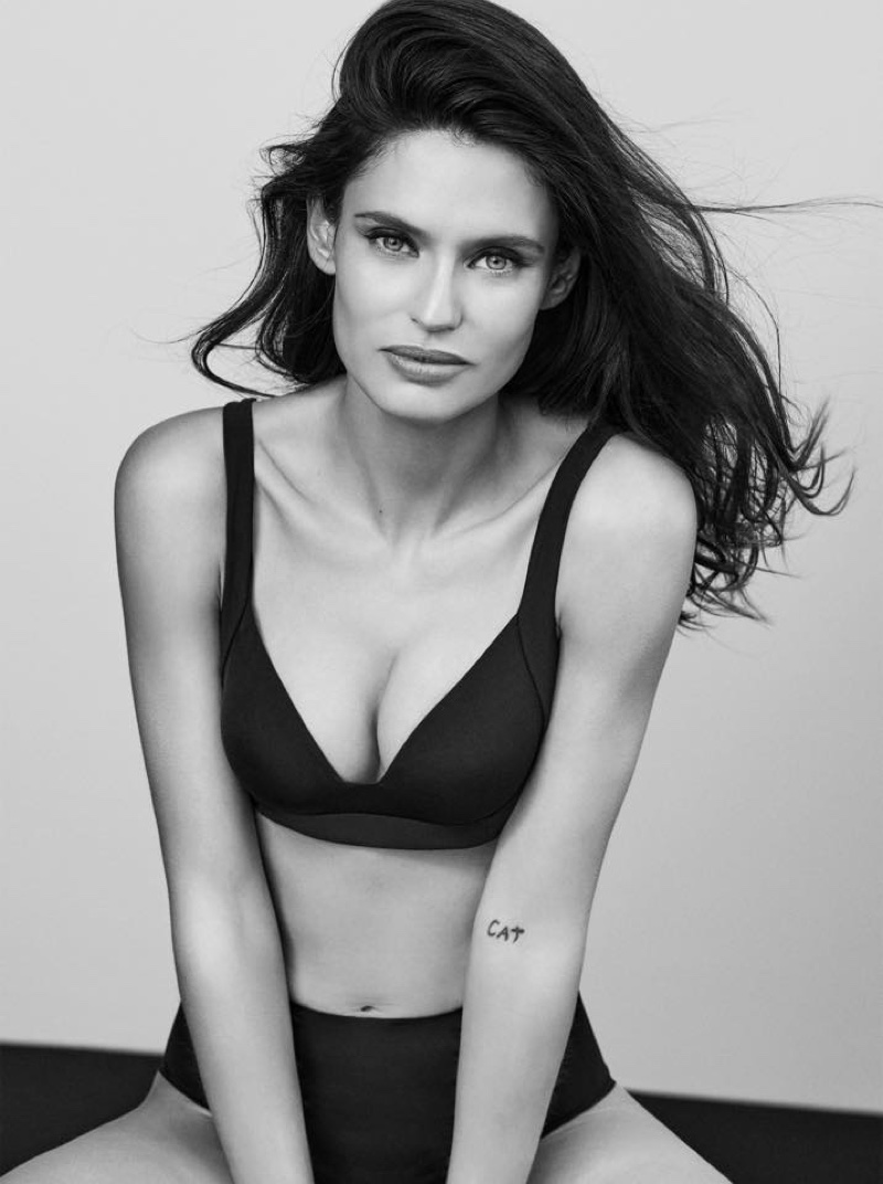 Captured in black and white, Bianca Balti fronts Yamamay #BasicallySexy campaign