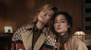 Bruna & Liz Pose in Elegant Fashions for Vogue Taiwan