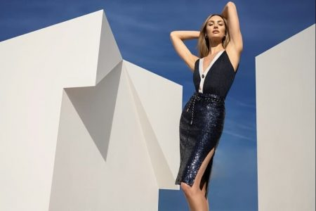 Striking a pose, Candice Swanepoeal appears in NetWork spring-summer 2020 campaign