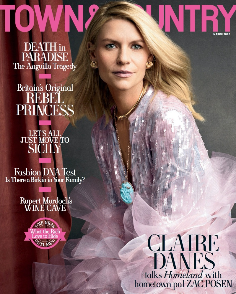 Claire Danes on Town & Country March 2020 Cover