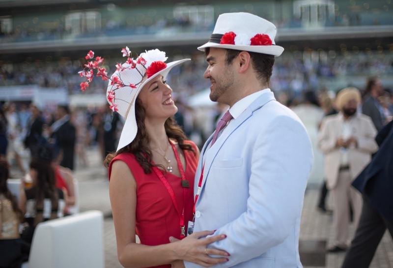 Couple Horse Derby Style Hats