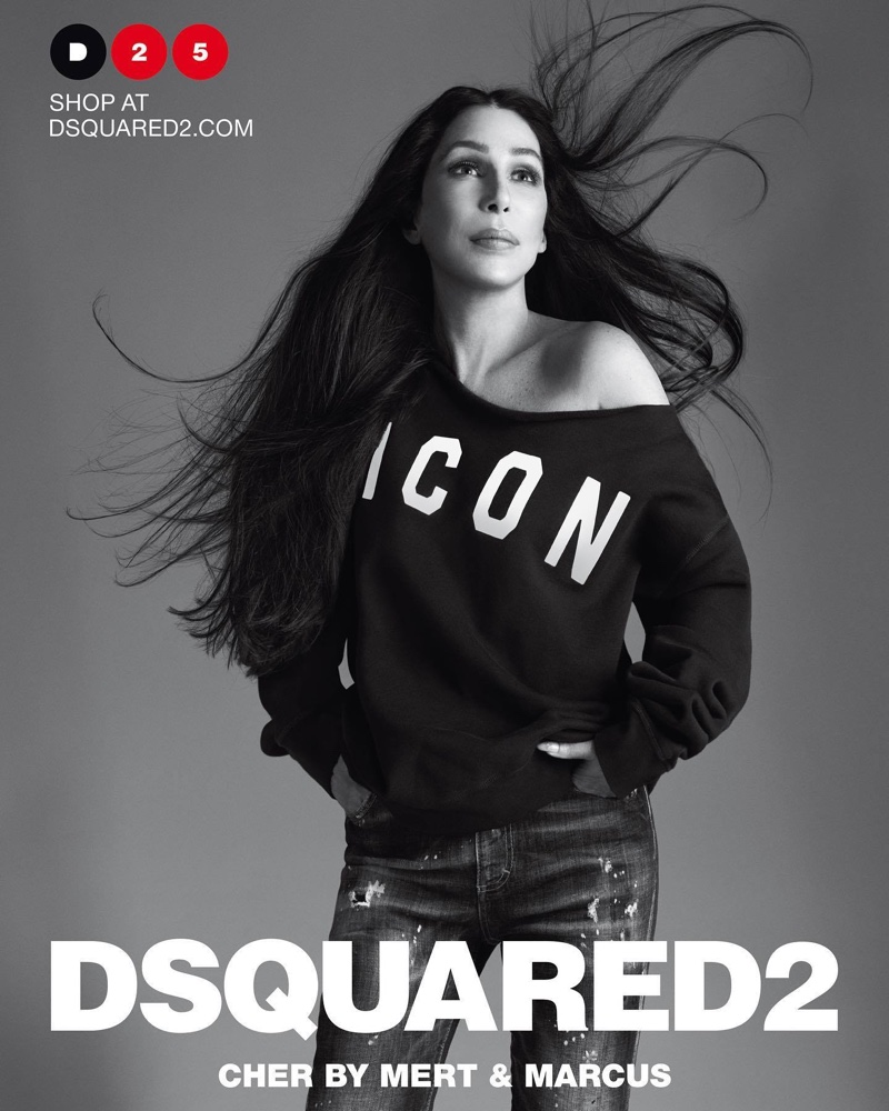 Cher poses for DSquared2 spring-summer 2020 campaign