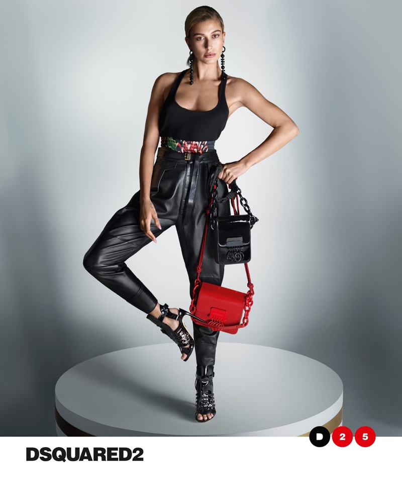 Hailey Baldwin fronts DSquared2 spring-summer 2020 campaign