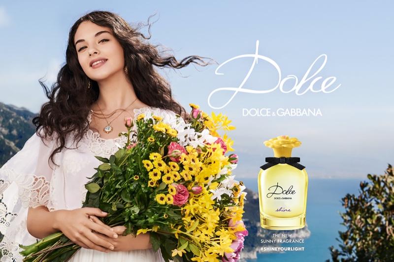 Deva Cassel stars in Dolce & Gabbana Shine fragrance campaign
