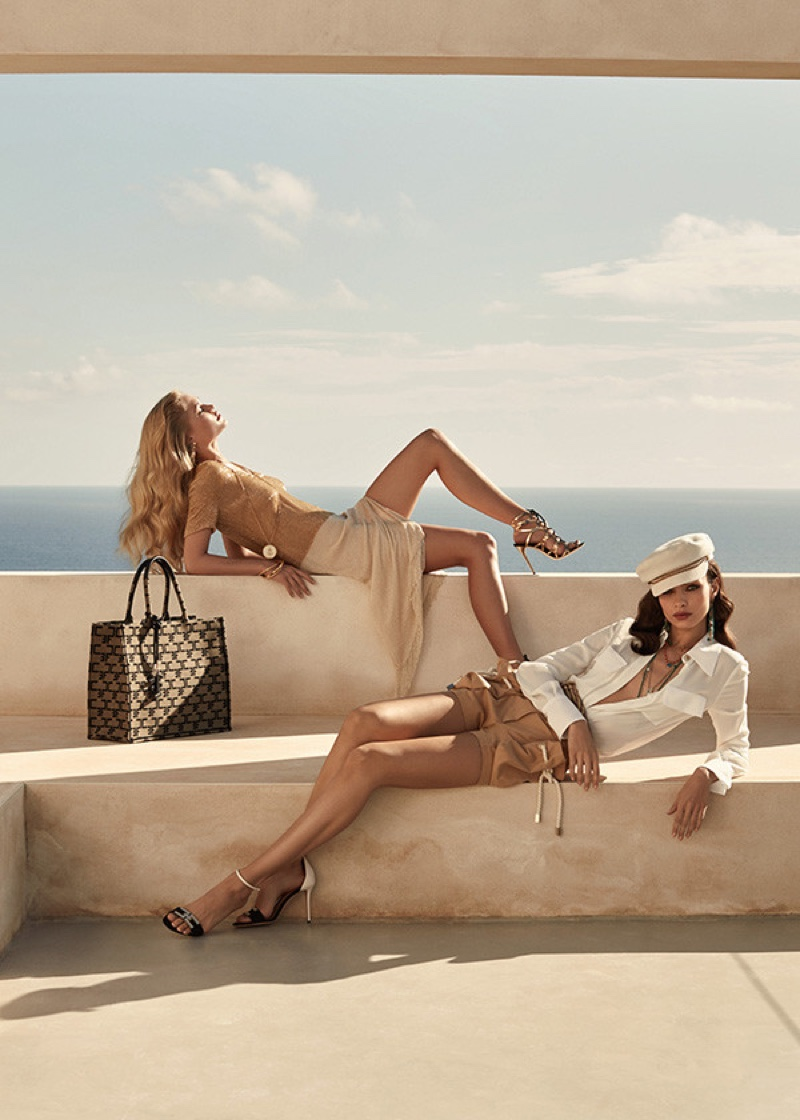 An image from Elisabetta Franchi's spring 2020 advertising campaign