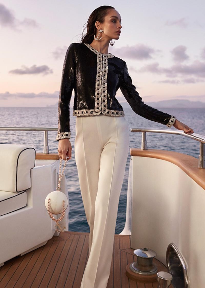Model Luma Grothe appears in Elisabetta Franchi spring-summer 2020 campaign