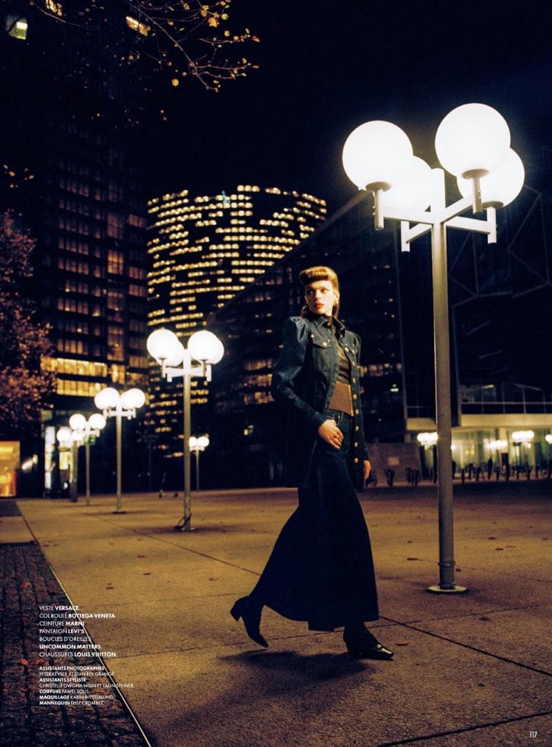 Elise Crombez Models Fashion Forward Looks for Vanity Fair France