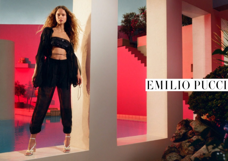 An image from Emilio Pucci's spring 2020 advertising campaign