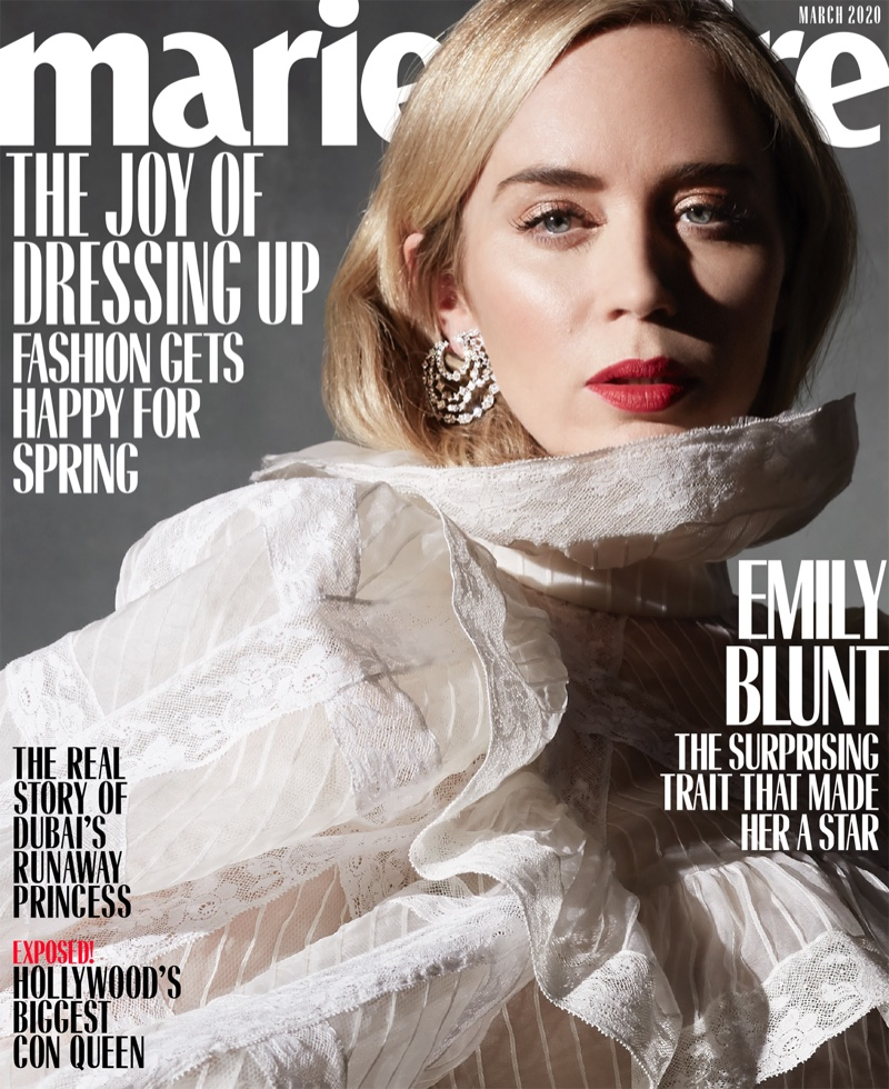 Emily Blunt on Marie Claire US March 2020 Cover