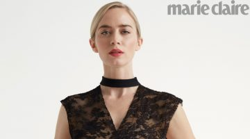 Dressed in black, Emily Blunt wows in lace look