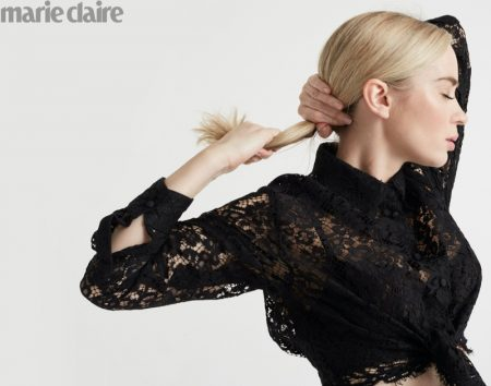 Emily Blunt Poses in Elegant Looks for Marie Claire
