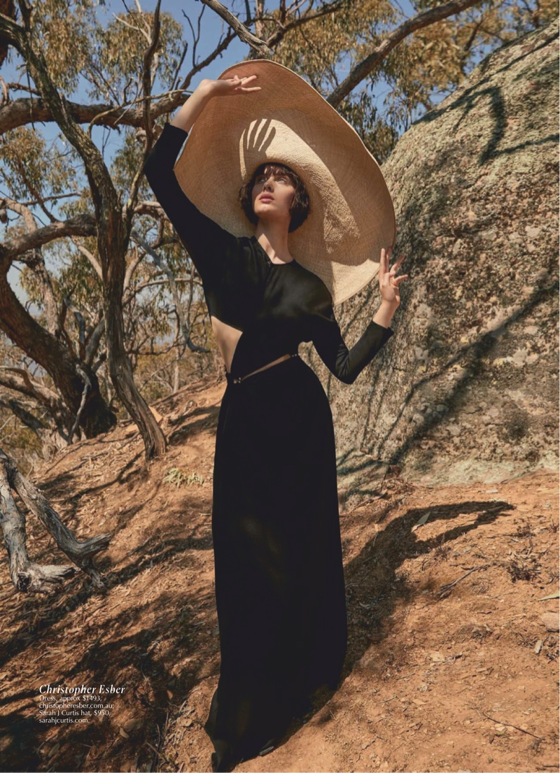 Emma Boyd Poses in Romantic Fashions for Marie Claire Australia