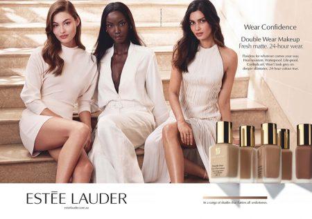 Grace Elizabeth, Anok Yai and Diana Penty star in Estee Lauder Double Wear Foundation 2020 campaign