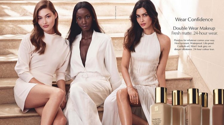 Grace Elizabeth, Anok Yai and Diana Penty star in Estee Lauder Double Wear Foundation 2020 campaign