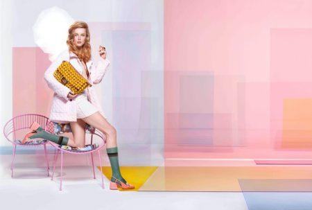 Rianne van Rompaey stars in Fendi spring-summer 2020 campaign