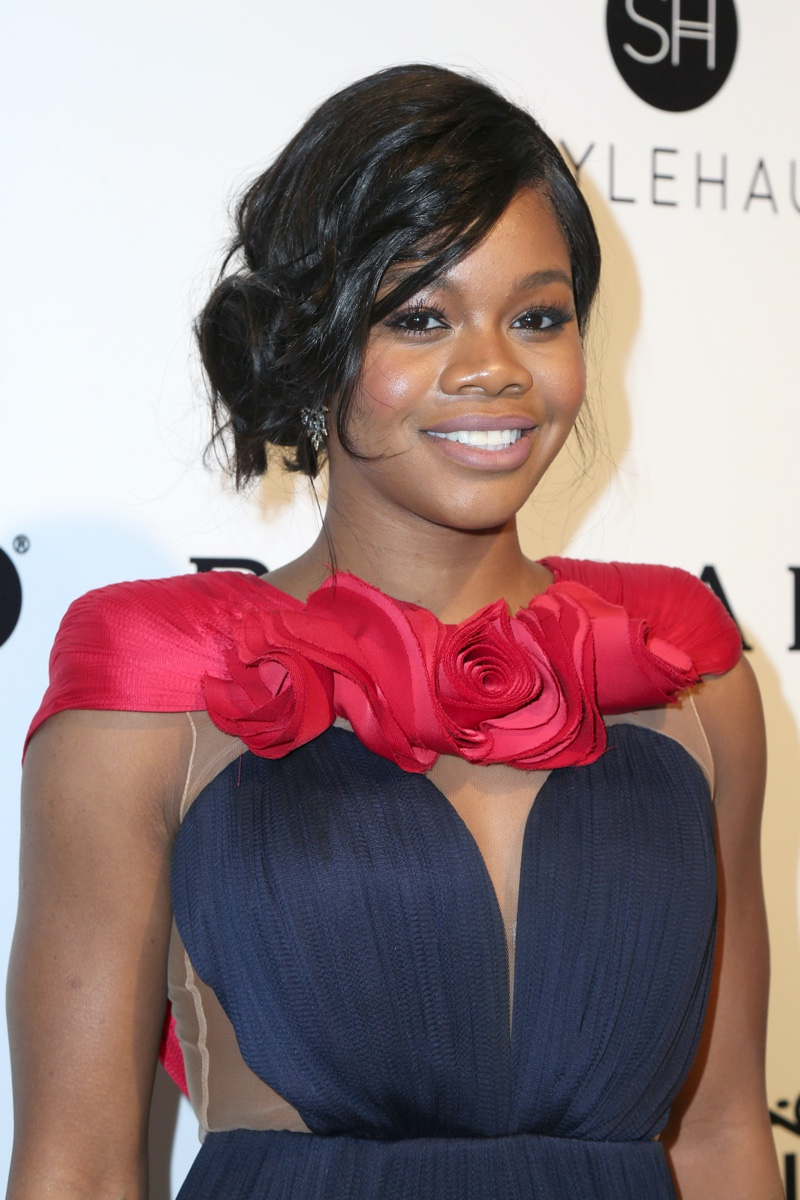 Gabby Douglas at the 25the Annual Elton John Academy Awards Viewing Party