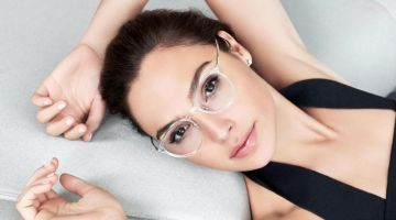 Actress Gal Gadot wears transparent frames for Bolon Eyewear 2020