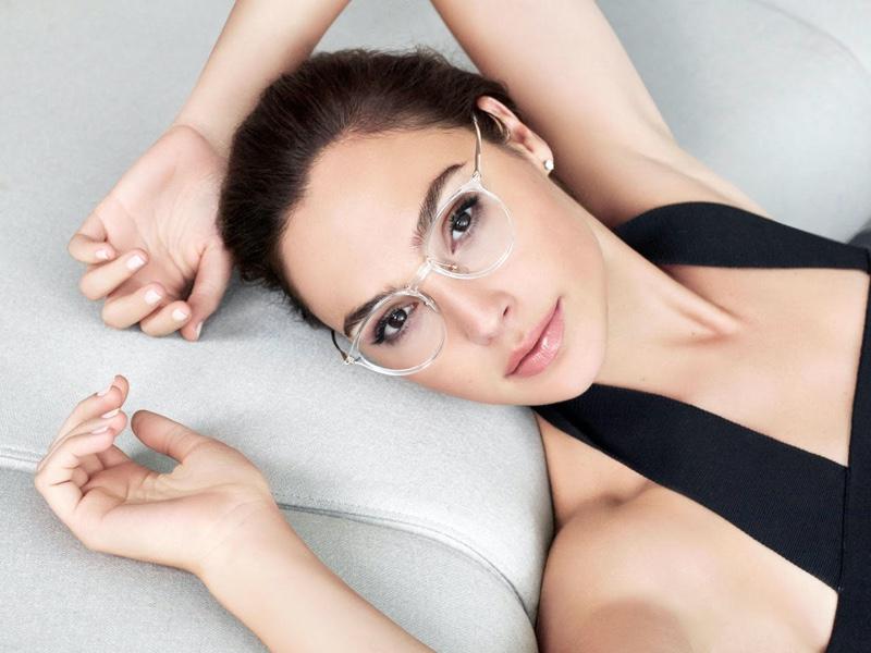 Actress Gal Gadot wears transparent frames for Bolon Eyewear 2020