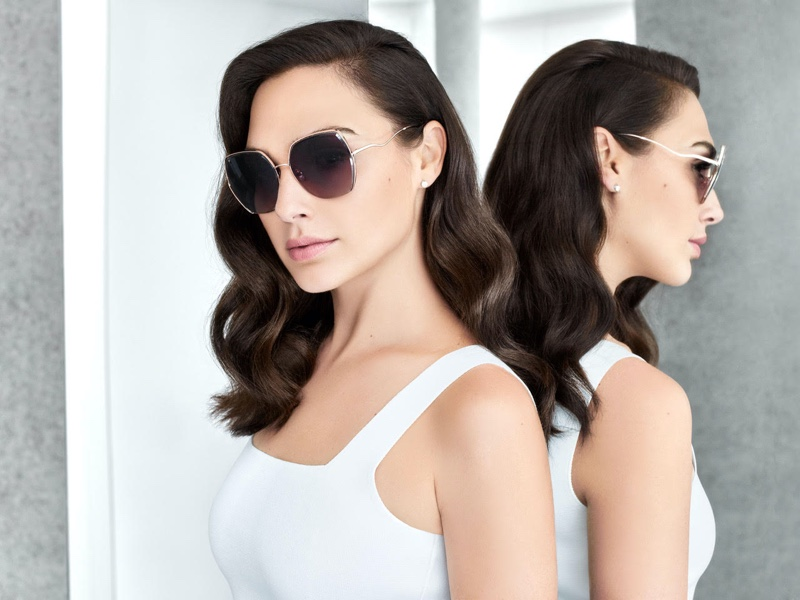 Actress Gal Gadot poses in sunglasses for Bolon Eyewear 2020 campaign