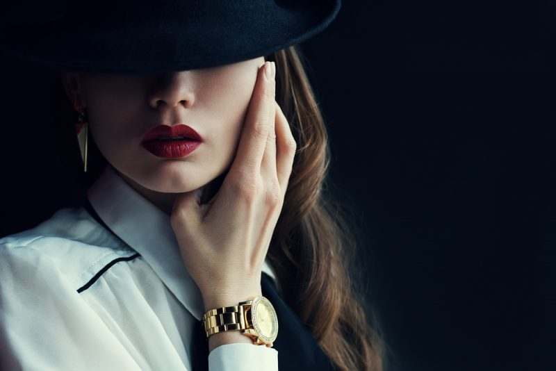 Glam Woman Wearing Watch