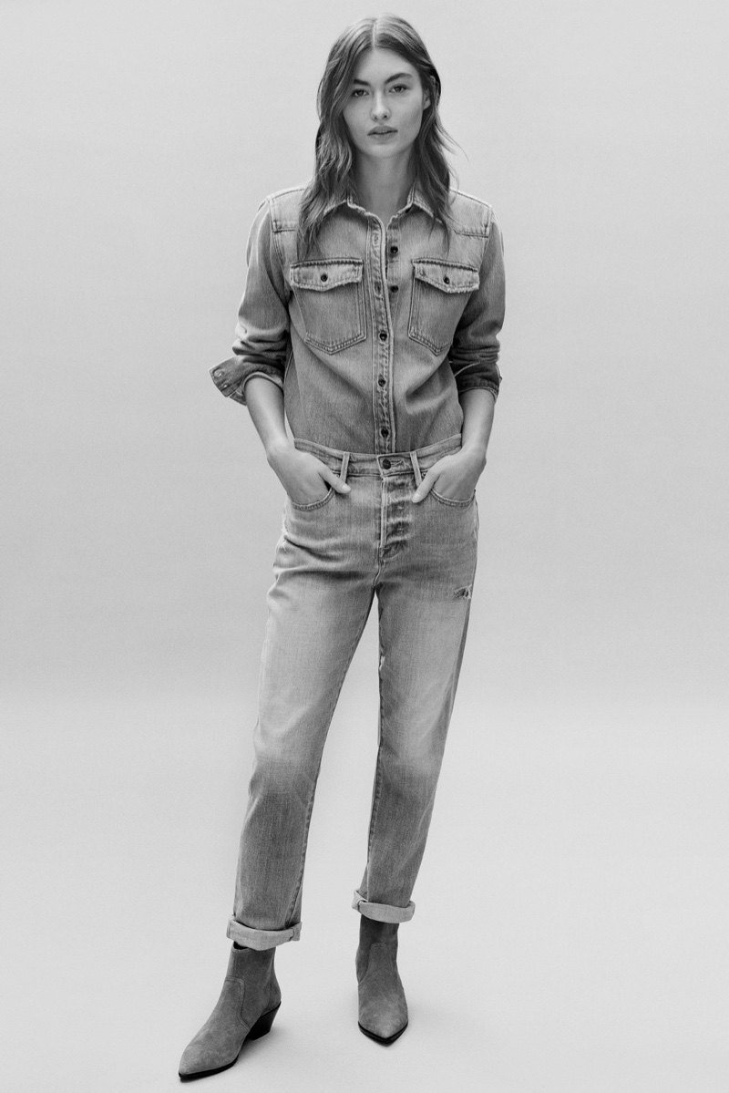 Model Grace Elizabeth appears in FRAME spring-summer 2020 campaign