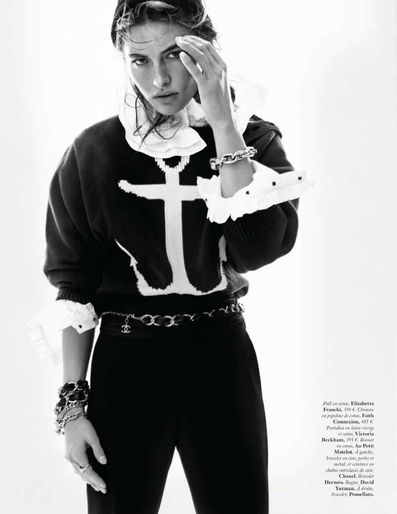Grace Elizabeth Embraces Nautical Fashion for Vogue Paris