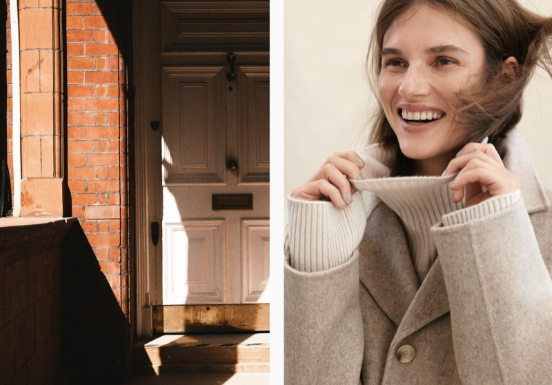 H&M Wool-Blend Coat and Cashmere Turtleneck Sweater