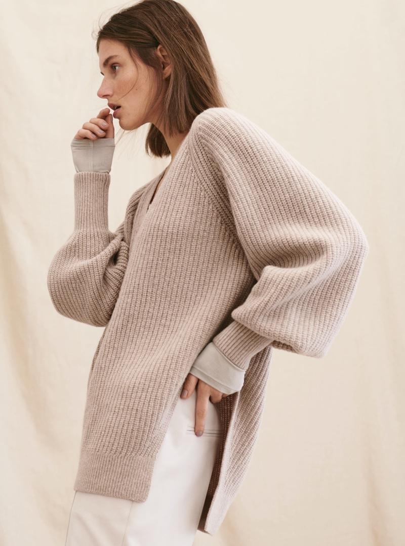 Giedre Dukauskaite wears H&M Premium winter 2020 collection