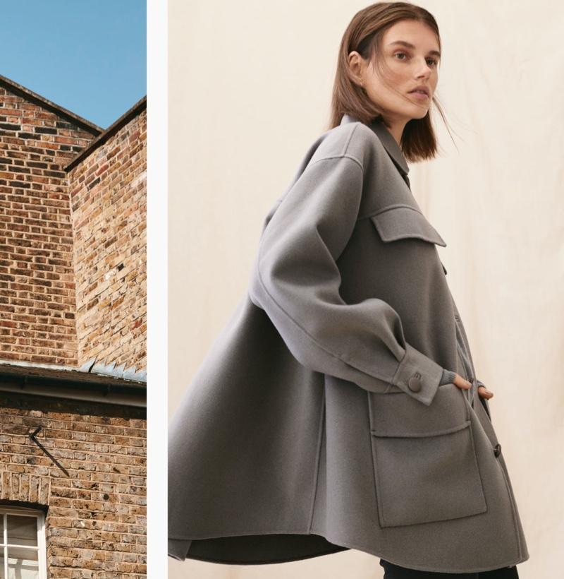 Giedre Dukauskaite models H&M Premium winter 2020 collection