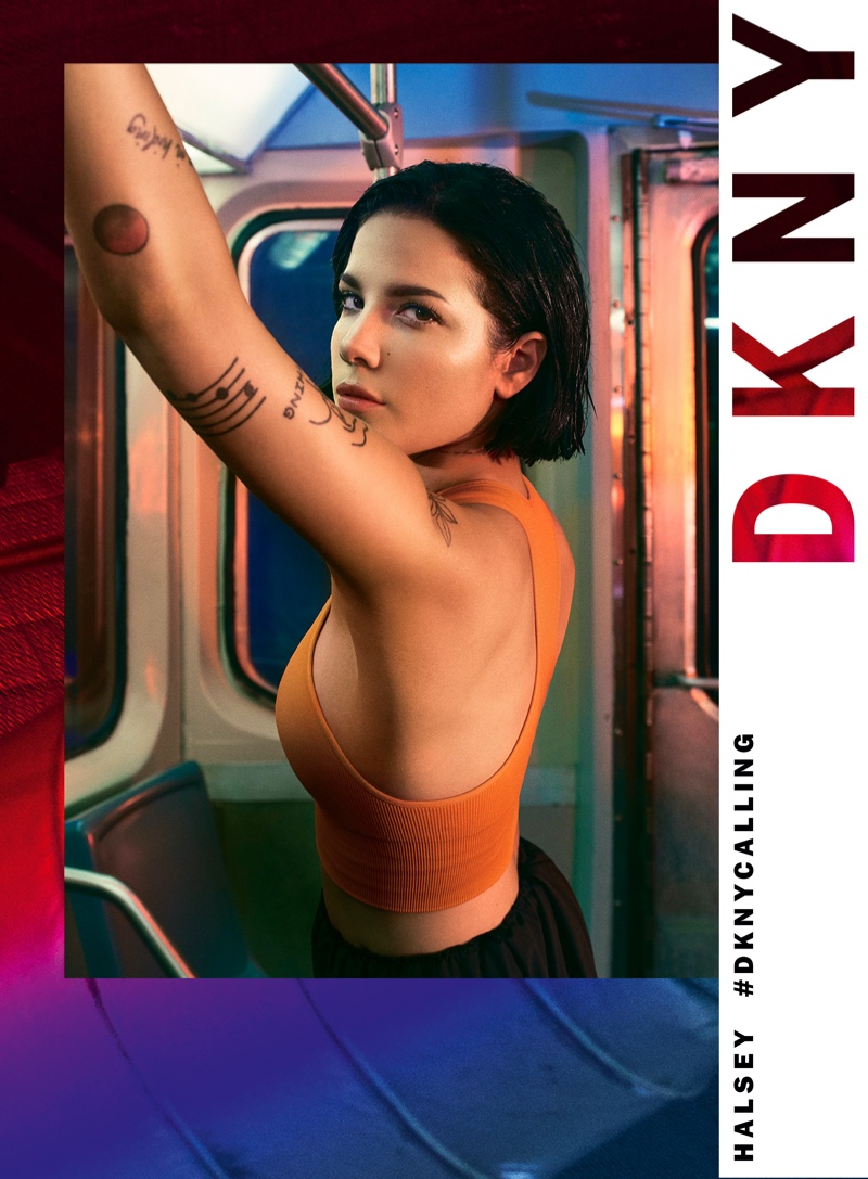 Singer Halsey poses for DKNY spring-summer 2020 campaign