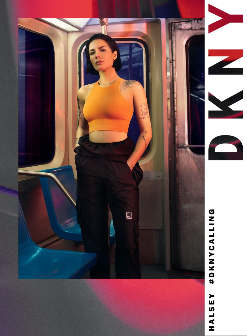 Looking sporty, Halsey poses for DKNY spring-summer 2020 campaign