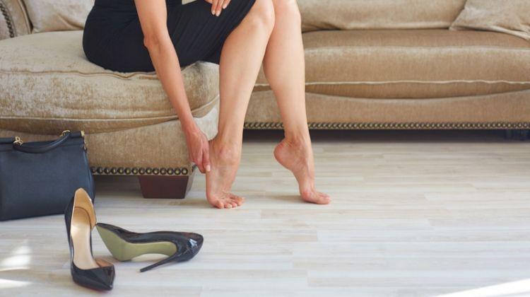 Heels Bags Woman Foot Pain Black Dress