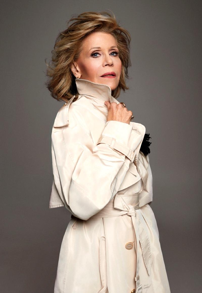 Actress Jane Fonda appears in ELLE Canada