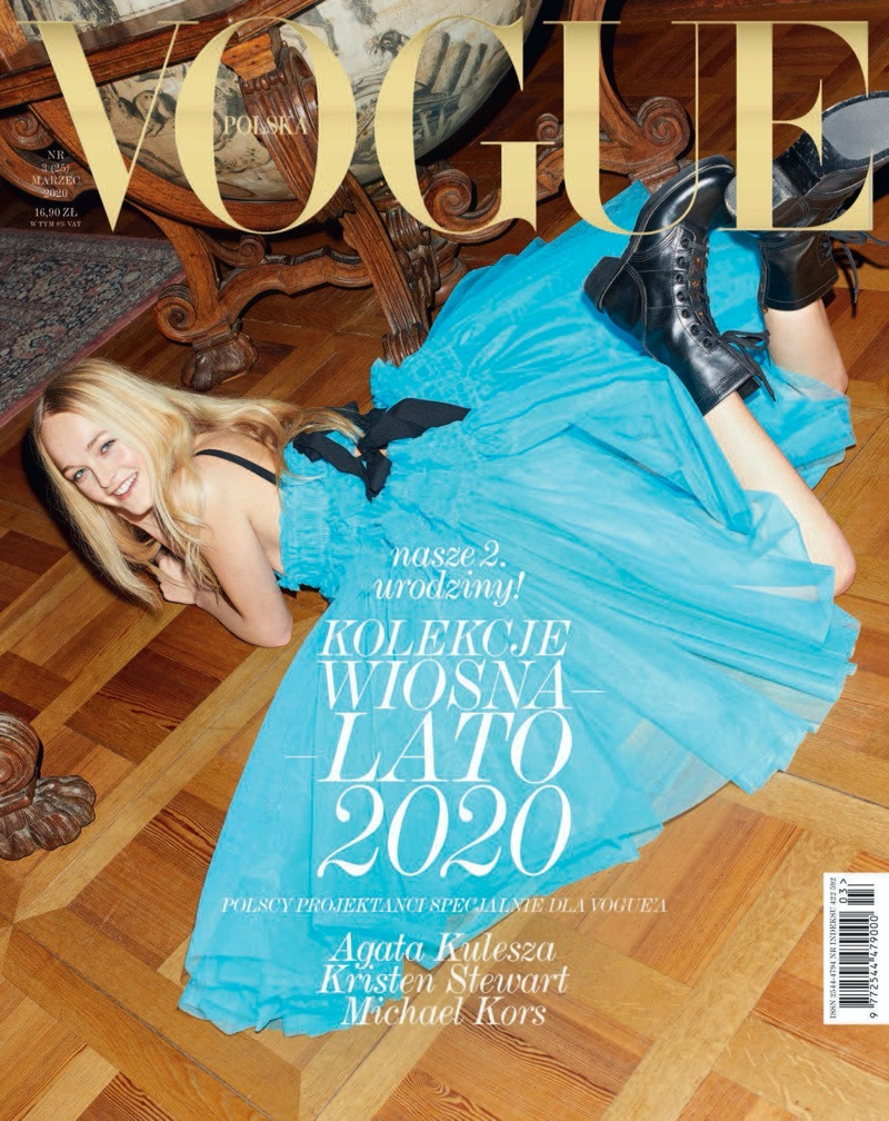 Jean Campbell Poses in Statement Styles for Vogue Poland