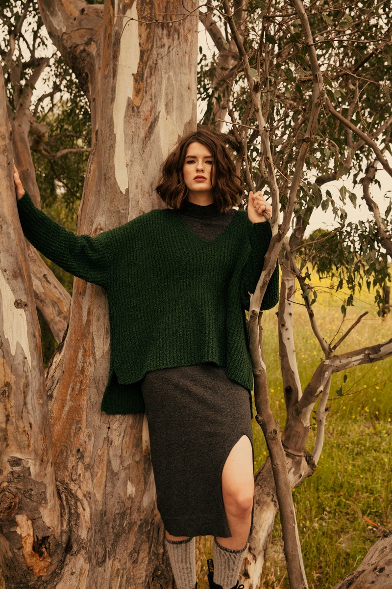 Julia Covert Poses in Chic Knitwear for ELLE Bulgaria