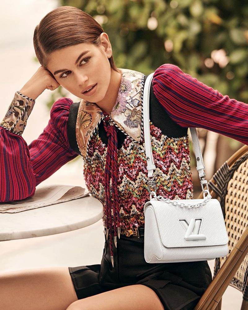 Kaia Gerber stars in Louis Vuitton Twist spring-summer 2020 campaign